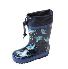 Holínky Wolf modré se žraloky