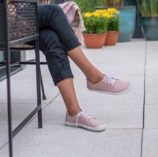 Barefoot Kožené boty AYLLA INCA růžové L - užší, unisex bosá