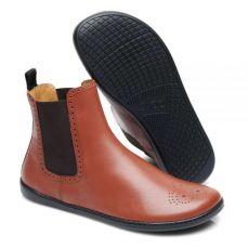 Barefoot Kožené boty ZAQQ EQUITY BROGUE Cognac bosá