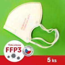 Respirátor / Filtrační polomaska FFP3 - ROYAX 5 ks