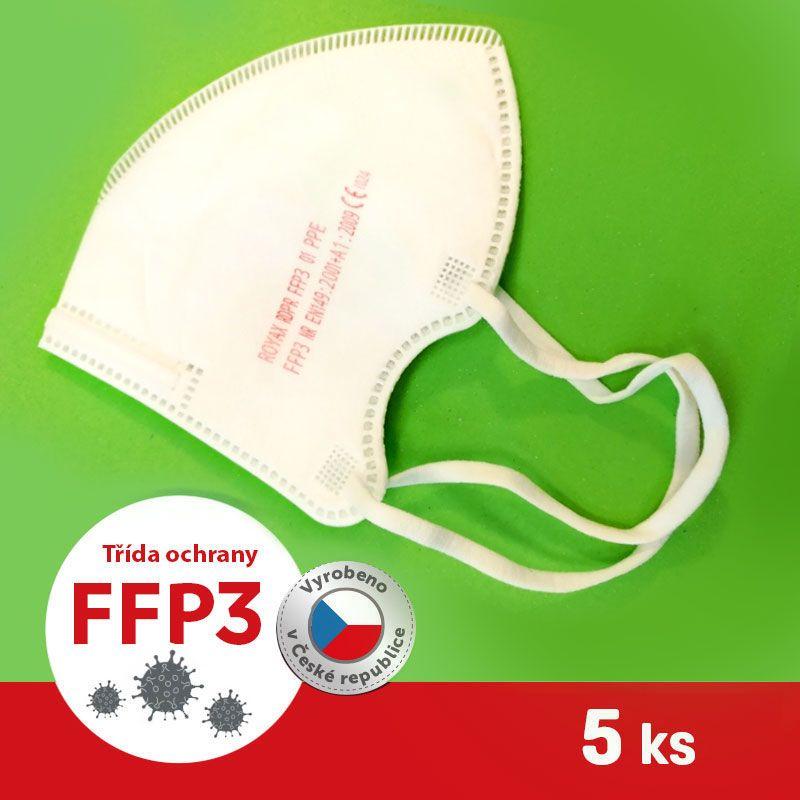 Barefoot Respirátor / Filtrační polomaska FFP3 - ROYAX 5 ks bosá