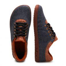 Barefoot Vlněné boty ZAQQ LIQE grey toffee bosá