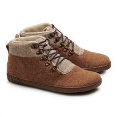 Vlněné kotníkové boty ZAQQ LIQE mid toffee