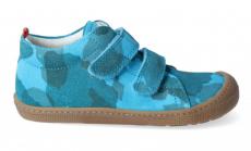 Barefoot celoroční boty KOEL4kids - Bernardinho cyan camo
