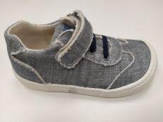 Barefoot Barefoot plátěné tenisky KOEL4kids - Bernardinho grey bosá