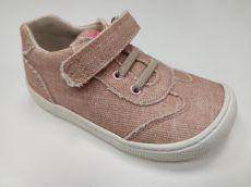 Barefoot Barefoot plátěné tenisky KOEL4kids - Bernardinho pink bosá