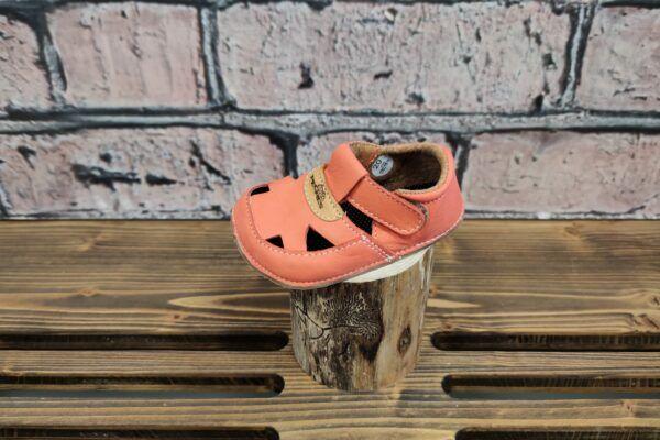 Barefoot Barefoot sandálky Pegres BF20 - lososové bosá