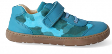 Barefoot tenisky KOEL4kids - Bernardo laces turquoise