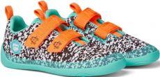 Dětské barefoot boty Affenzahn Lowcut Knit Crab-Black/White/Pink