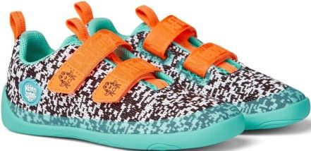 Barefoot Dětské barefoot boty Affenzahn Lowcut Knit Crab-Black/White/Pink bosá