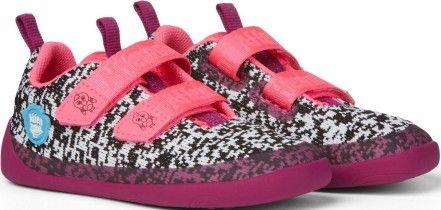 Barefoot Dětské barefoot boty Affenzahn Lowcut Knit Flamingo-Black/White/Pink bosá