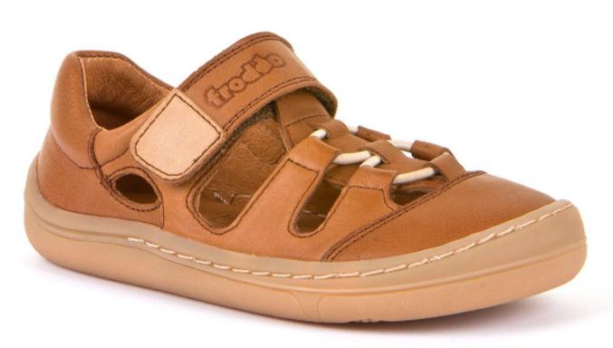 Barefoot Froddo barefoot sandálky Brown - 1 suchý zip bosá