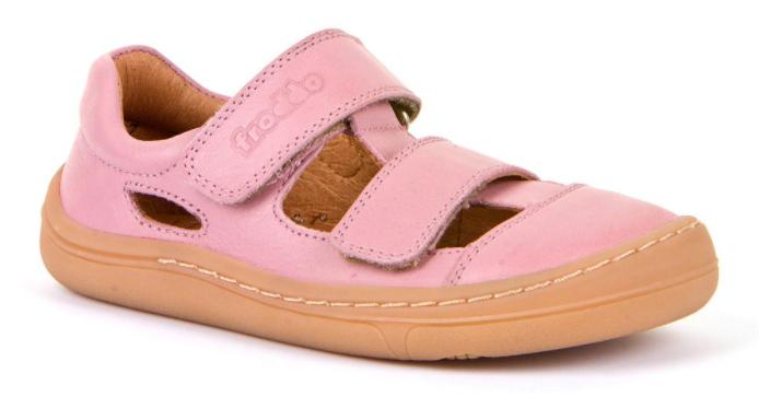 Barefoot Froddo barefoot sandálky Pink - 2 suché zipy bosá