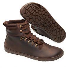 Barefoot Kožené boty ZAQQ EXPEQ Brown Waterproof bosá