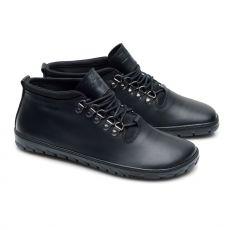Barefoot Kožené boty ZAQQ EXPEQ Mid Black Waterproof bosá