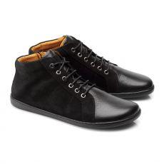 Kožené boty ZAQQ QORE Mid Black