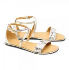Barefoot Sandálky ZAQQ QEEP Gold bosá