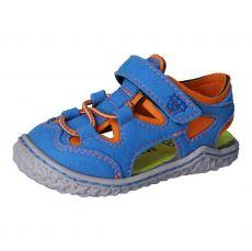 Barefoot sandálky RICOSTA Kenny azur/papaya | 20, 21, 22, 23, 24