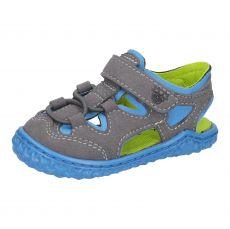 Barefoot sandálky RICOSTA Kenny graphit/sky | 20, 21, 22, 23, 24, 25, 26