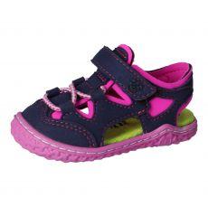 Barefoot sandálky RICOSTA Kenny ozean/neonpink  | 21, 22, 23, 24, 25