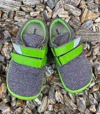 Beda barefoot tenisky Soft lime | 20, 21