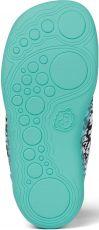 Barefoot Dětské barefoot boty Affenzahn Lowcut Knit Crab - Black/White/Orange bosá