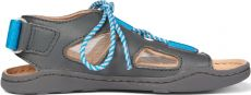 Barefoot Dětské barefoot sandály Affenzahn Sandal Leather Dog-Grey bosá