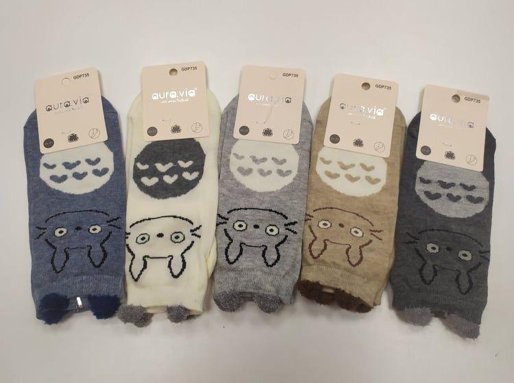 Barefoot Dětské kotníkové ponožky - králík Totoro bosá