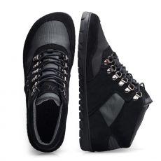Barefoot Kotníkové boty ZAQQ HIQE Mid Black Waterproof bosá