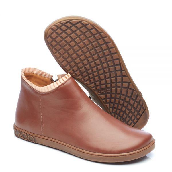 Barefoot Kožené boty ZAQQ CHOQQO Brown bosá