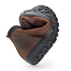 Barefoot Kožené boty ZAQQ EXPEQ Mid Brown Waterproof bosá