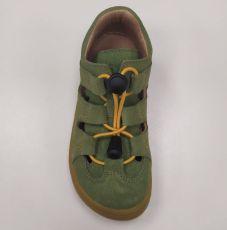 Barefoot Lurchi sandálky - NATHAN suede Aloe velo bosá