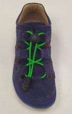 Barefoot Lurchi sandálky - NATHAN suede Azul bosá