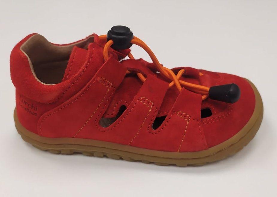 Barefoot Lurchi sandálky - NATHAN suede Fuego bosá