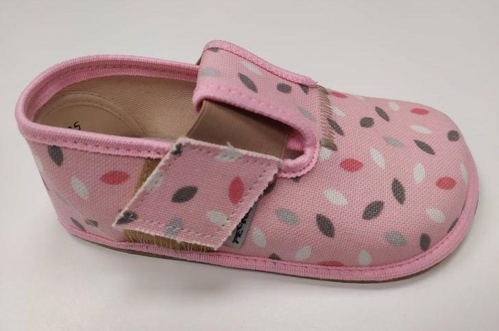 Barefoot Pegres barefoot papuče BF01 růžové bosá