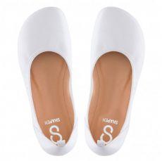 Barefoot SHAPEN Barefoot balerínky TULIP II WHITE bosá