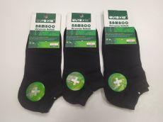 Bambusové ponožky kotníkové AURA VIA - dámské černé | 35-38, 38-41