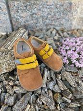 Beda Barefoot Caramel - nízké celoroční boty | 20, 21, 22, 28, 29, 31