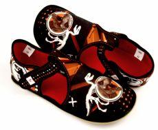 Barefoot Ef barefoot papučky 385 T-REX - otevřené bosá