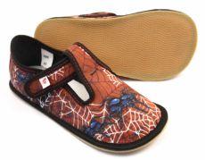 Ef barefoot papučky 395 Black spider | 24, 25, 26, 27, 28, 29, 31, 33