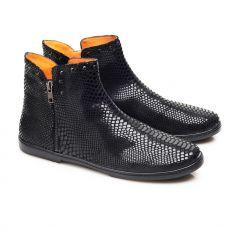 Kožené boty ZAQQ QUAKERTOWN Black