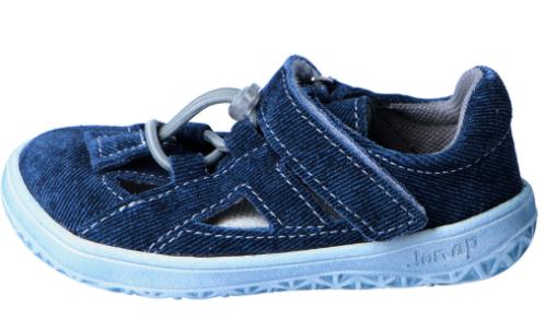 Barefoot Jonap barefoot sandále B9S riflová SLIM bosá
