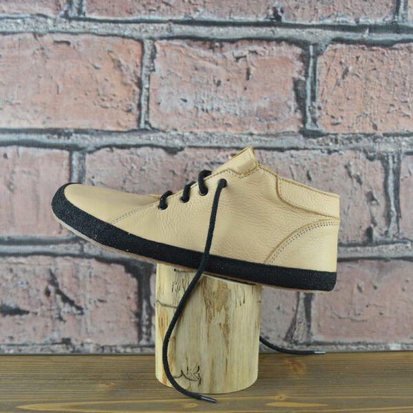 Barefoot Celoroční boty - Bosé Pegresky pro dospělé - béžová s černým okopem bosá