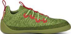 Dětské barefoot boty Affenzahn Lowcut Knit Dragon-Green - tkaničky