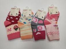 Protiskluzové slabé ponožky AMZF - pro holky