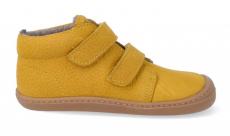 Barefoot zateplené boty KOEL4kids - BOB ocra   21, 22, 23, 24, 25, 26, 27, 28