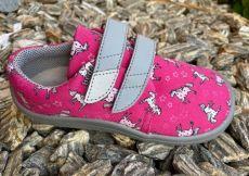 Beda barefoot textilní tenisky Unicorn - šedá podrážka | 22, 23, 24, 25, 26, 27, 28, 29, 30