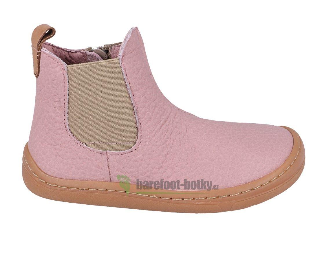 Barefoot Froddo barefoot boty chelsea pink bosá