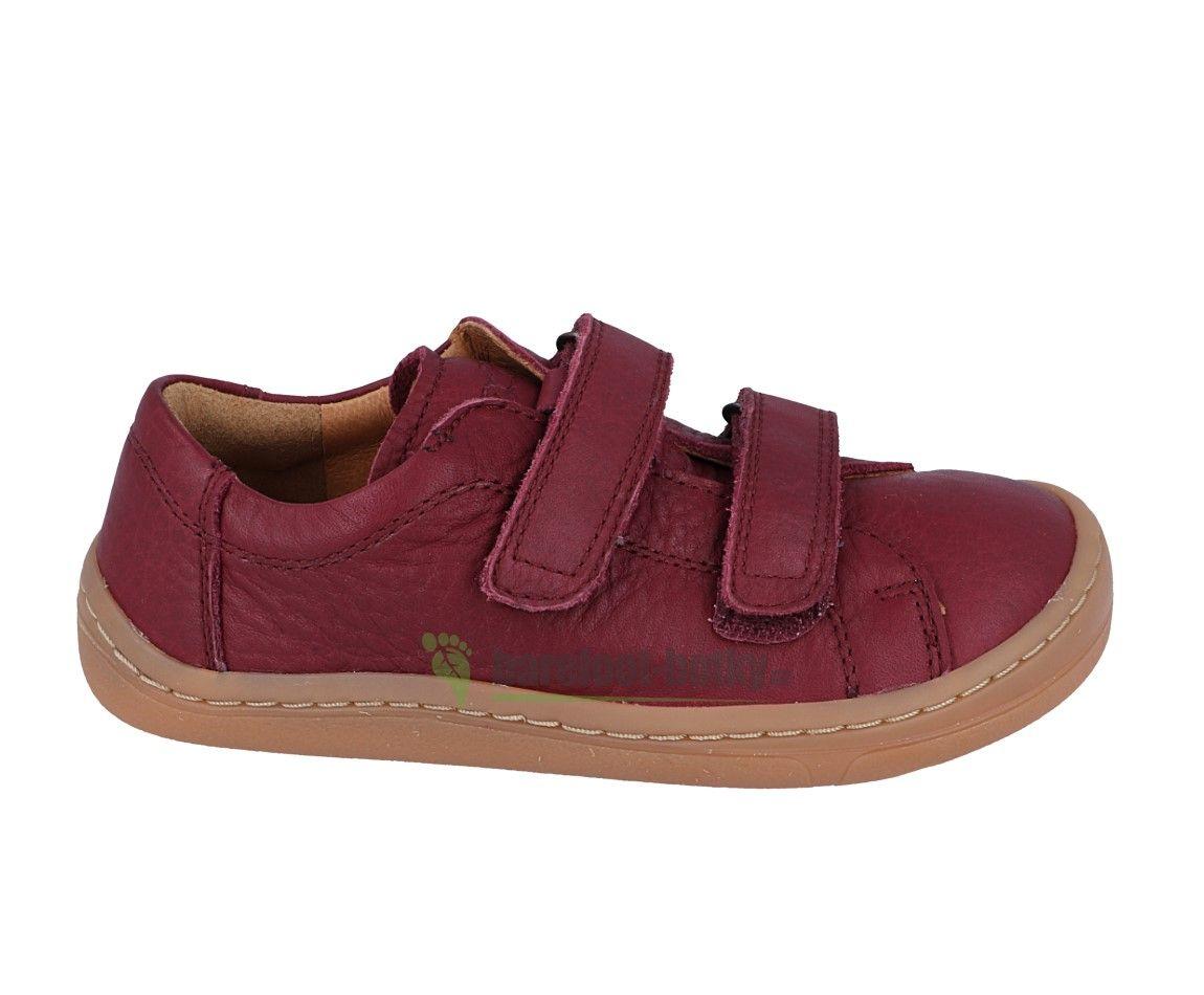 Barefoot Froddo barefoot celoroční boty bordeaux - 2 suché zipy bosá