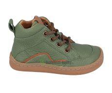 Froddo barefoot celoroční boty olive - tkaničky